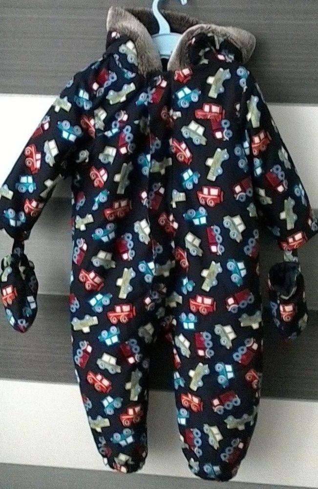 c0c64f776 Baby Boys Snowsuit Pramsuit Detachable Mittens 12-18 Months  MCo ...