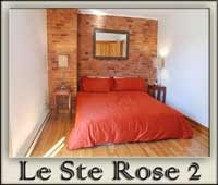 Stylish Montreal travel lodging. Exposed brick. 5 bedroom. Quartier Latin.