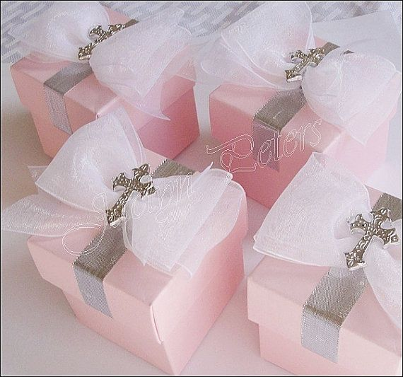 Girls Baptism Or Communion Favor Box by JaclynPetersDesigns