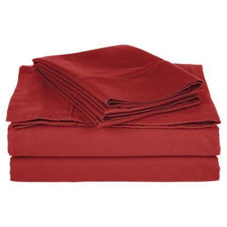 Superior 800 Thread Count Solid Cotton Blend Sheet Set, Orange