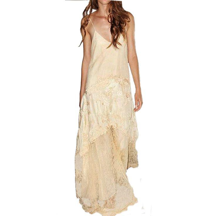 ·novia #vestido #boho #fiesta #bohochic #matrimonio #escote #largo #confeccion a medida