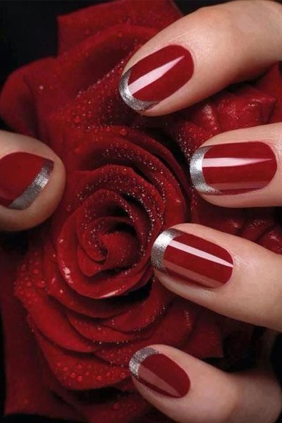 15 Holiday Nail Art Ideas from Pinterest - Daily Makeover                                                                                                                                                                                 More