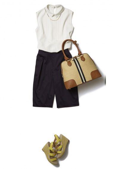 今年はネイビーのバミューダパンツで初夏の大人カジュアルスタイル  ― A-ファッションコーディネート通販|ビストロ フラワーズ トウキョウ