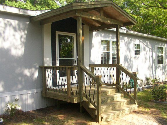 17 best images about mobile home rv porches on pinterest for Pictures of porches on mobile homes