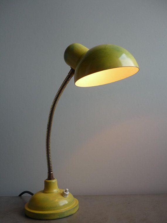 Bauhaus Style 1930s Vintage Table Desk Lamp Etsy Desk Lamp Lamp Vintage Table