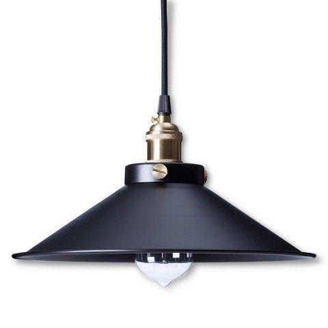 Kim Pendant Light Black (Includes Edison Bulb)
