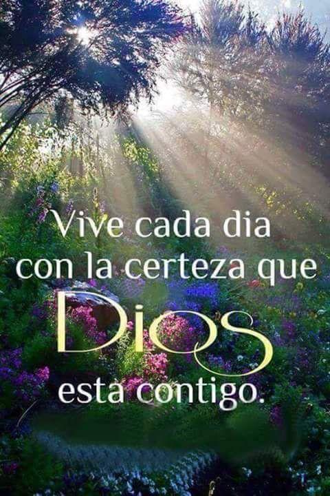 Vive cada día con la certeza que Dios está contigo.