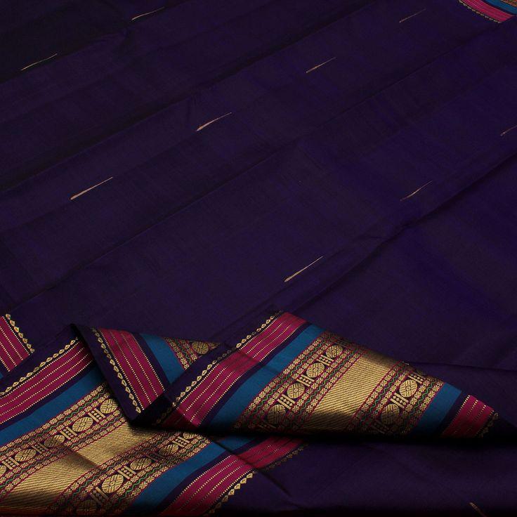 Sarangi Handwoven Kanjivaram Silk Sari - 580125961 from Sarangi * Feel Beautiful
