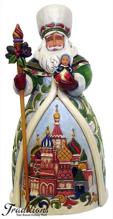 "JIM SHORE  RUSSIAN SANTA  ""GRANDFATHER FROST""  Resin 7x3"""