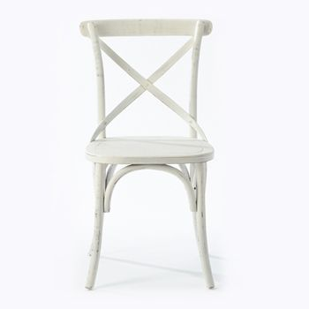 Cafe Chair with white seat. Available online and in store. http://www.shack.com.au/contact-us