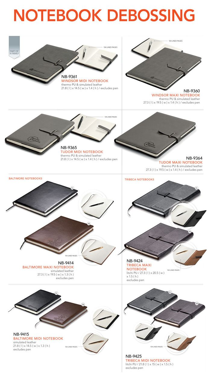 More and more clients are now choosing Debossing and Foiling as the preferred method of Branding for our Notebooks. Until the 25th of Novemb...