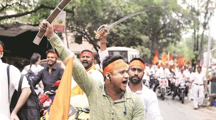 Over 150 rallies on Ram Navami: Swords saffron flags chants of Jai Shri Ram in Bengal   Youths in saffron clothing wielding swords and chanting Jai Shri Ram whizzed through the streets on their bikes on Wednesday as members of various outfits backed by the VHP RSS and BJP took out over 150 rallies to celebrate Ram Navami.While BJP said the processions were aimed at strengthening and spreading their ideological foundations for Hindutva the Trinamool Congress (TMC) said the saffron party is…