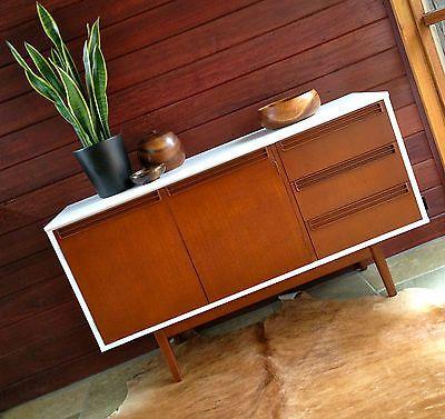 Mid Century Danish Vintage Retro Sideboard Buffet TV Cabinet Parker Eames Era