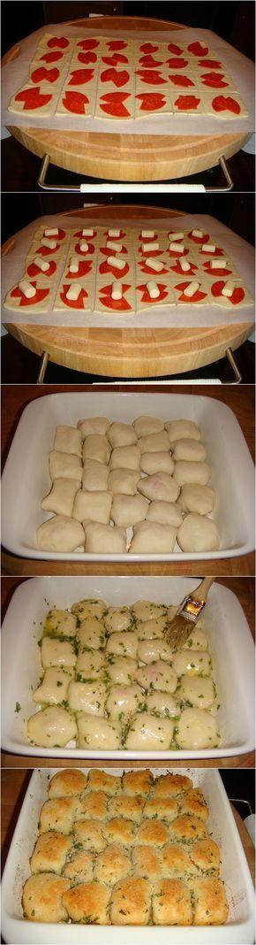 Rollos de Pizza Rellena. #Aperitivos