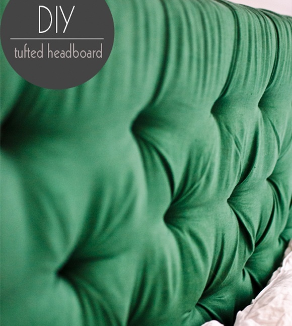 diy tufted headboard in EMERALD! loving black, white and emerald color scheme for our master bedroom