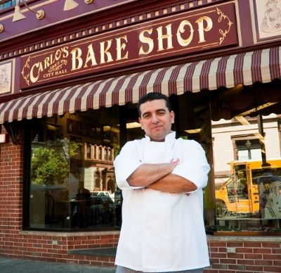 Cake Boss Buddy Valastro outside the flagship Carlo's Bakery location in Hoboken, NJ. The Carlo's Bakery at Preston Center in Dallas, Texas will be the successful family-owned business's thirteenth location. Other locations include Hoboken, Marlton, Morristown, Red Bank, Ridgewood, and Westfield, NJ; Las Vegas, NV; Uncasville, CT at Mohegan Sun; New York, and Westbury, NY; and, on Norwegian Cruise Lines.