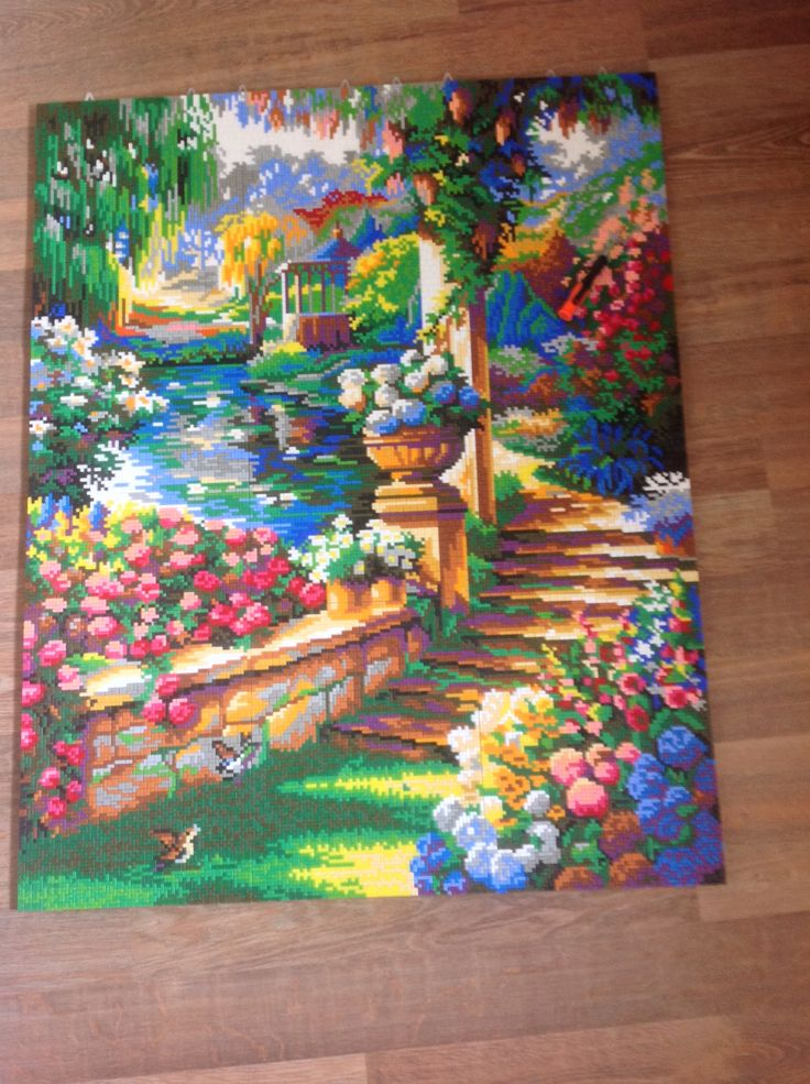 Ministeck, Paradise Garden, Paradisjtuin  Finally over! 1 year day for day!!! Please comments and repin!!!   20 050 pieces 99*78 cm  #Ministeck #puzzle #mosaic