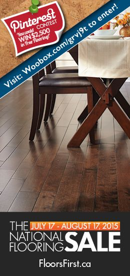 Check out the FloorsFirst Canada National Flooring Sale today! Image: Laurentian Hardwood, Antique Birch - Devon #flooring #floors #decor #home #design #livingroom #bedroom #kitchen #basement #familyroom #reno #renovation #HardwoodFlooring #pinterestdaily #style #fashion #interiordesign #Hardwood #epic #Sale #pintowin #contest #flooringSale #Black #White #Marsala #brown