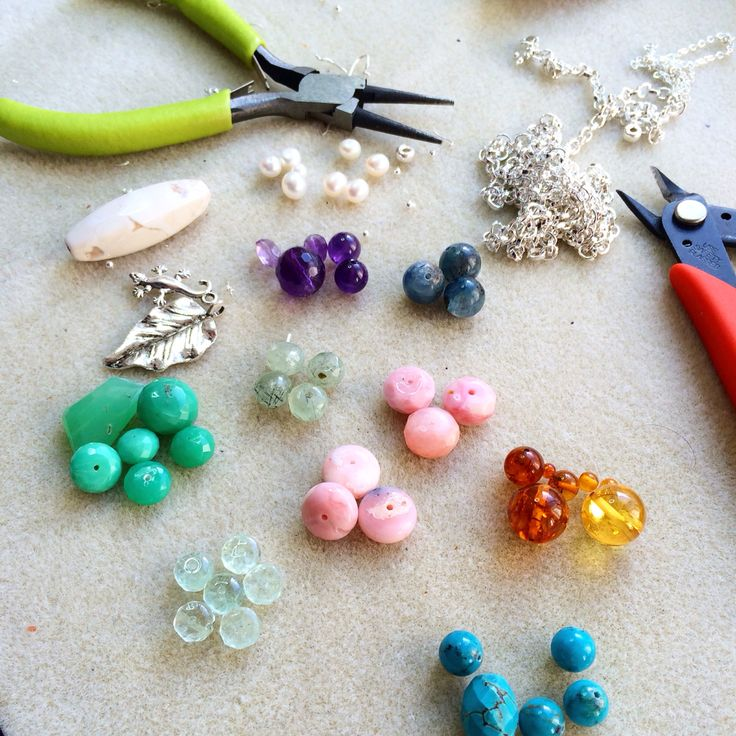 Lots of semi precious gems in rainbow colour! #design #unique #create #make #GGJewellery