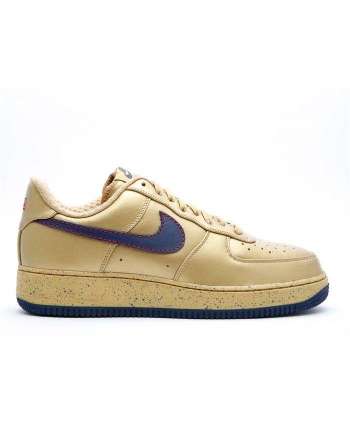 Air Force 1 Low Premium Barkley Pack Metallic Gold, Midnight Navy 317314-741