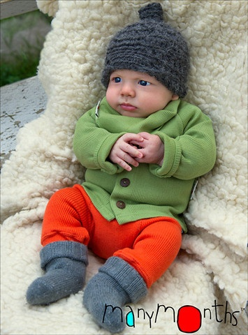 Pantaloni lungi din lana merinos - Babyidea - Protectie pentru scutece