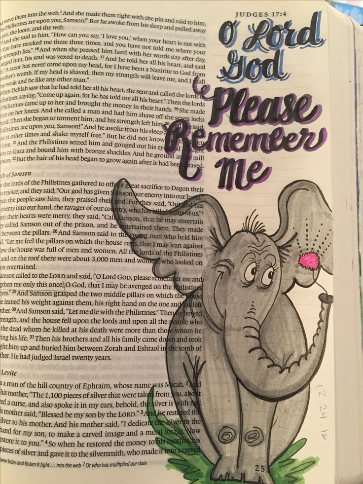 Judges 16:28 Bible Journaling
