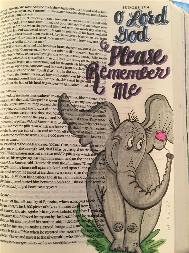 Judges 16:28 Bible Journaling