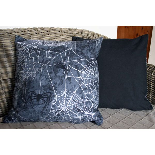 Halloween Spider Cushion ($15) ❤ liked on Polyvore featuring home, home decor, throw pillows, halloween throw pillows and halloween home decor
