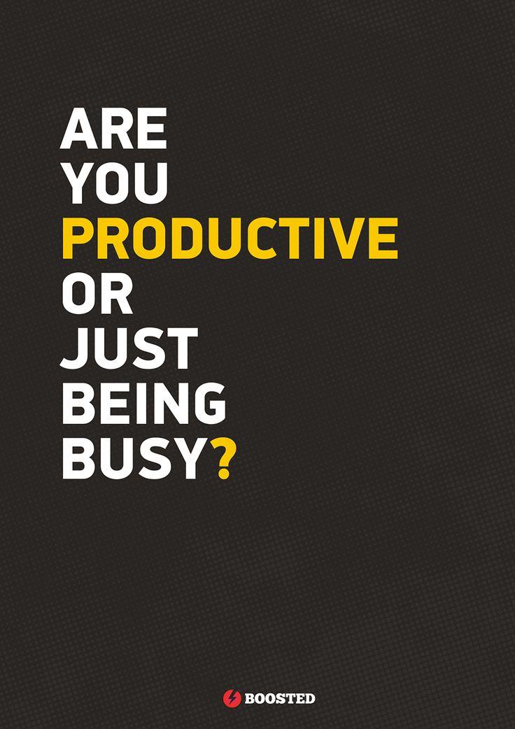 Motivační plakát Jsi produktivní? (Anglicky)