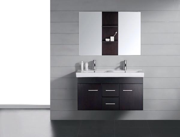 Virtu UM-3067-C-ES Opal 48 Inch Double Vanity – Espresso/White Stone