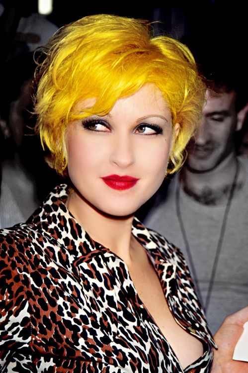 Cyndi Lauper yellow hair  she was the inflense for my bright red hair in the 80s. mel