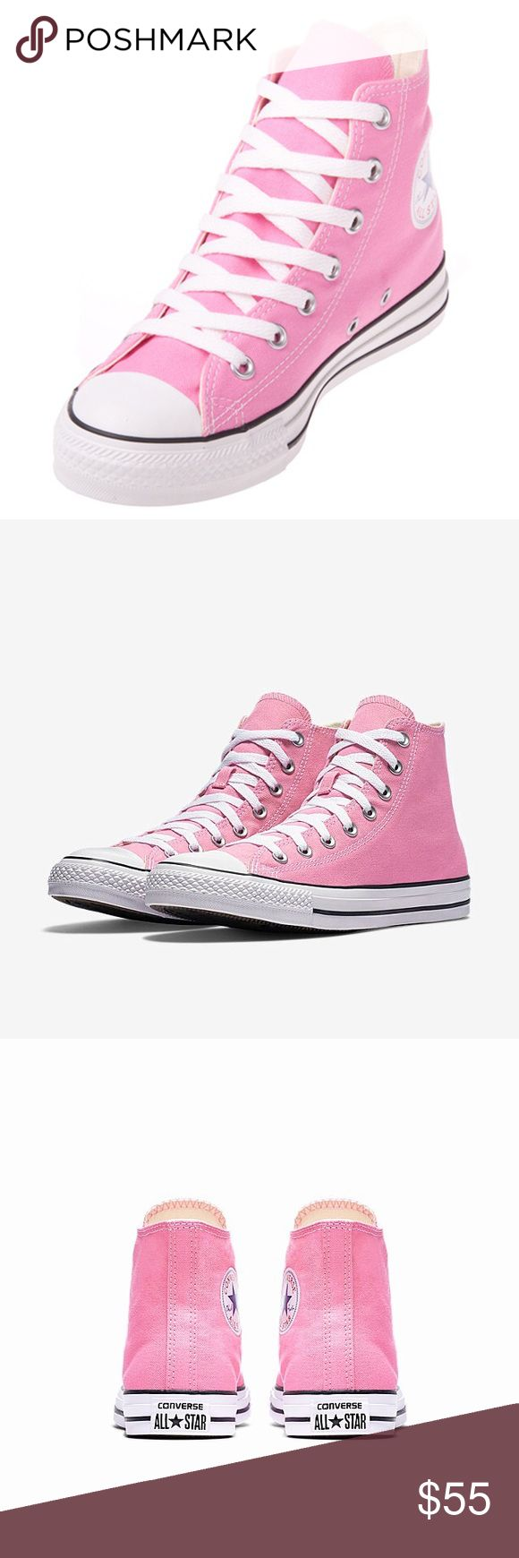Pink High Top Converse! Brand New !!! Pink converse All-Star Chuck Taylor High Top Sneakers. New,never worn. Converse Shoes Sneakers