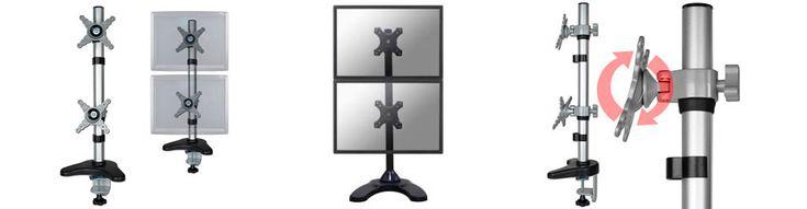 Accesorio ergonomico para sujetar dos monitores de computador   Bases y Soportes Ltda