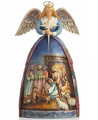 Jim Shore - Angel with Nativity Scene