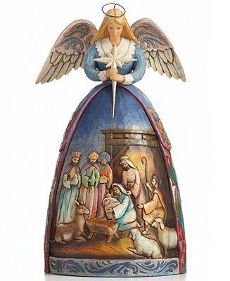 Jim Shore - Angel with Nativity Scene