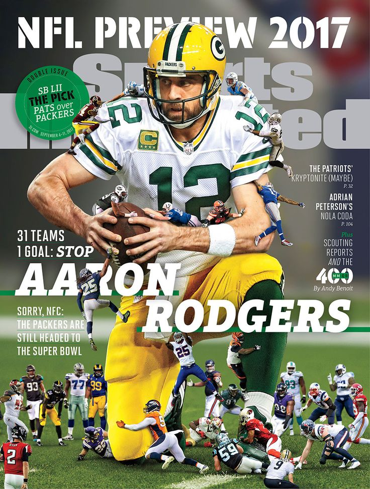 Packers QB Aaron Rodgers on regional cover of SI