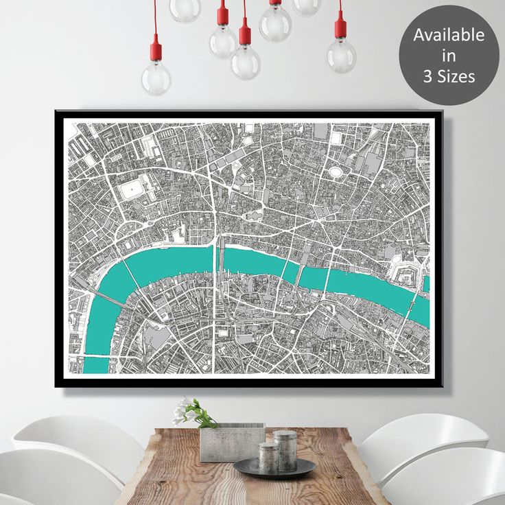 Hand Drawn London Map Art Prints - Limited Edition - product images  of