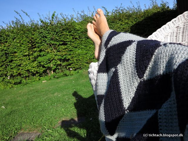 #Crochet #Blanket #Herringbone #Plaid #tichtach