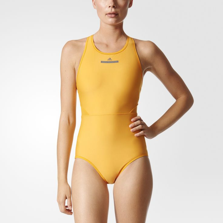 British fashion designer Stella McCartney made her mark with apparel and footwear that is elegant and feminine. Her collaboration with adidas brings her signature design sense to the athletic world.   The adidas by Stella McCartney Performance Swimsuit is made for serious swimmers with a sleek wetsuit-inspired design. Mesh panels add ventilation and a sheer look to this chlorine-resistant suit.