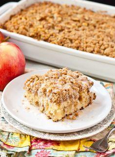 apple crumb coffee cake (halved the crumb) | neighbor food blog.