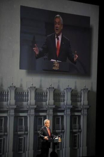 26 de ENERO DE 2013/ SANTIAGO, CHILE   El presidente Sebastián Piñera durante su discurso, en la ceremonia de inauguración de la cumbre CELAC-UE.   FOTO: PABLO OVALLE/AGENCIA UNO/PRENSA CUMBRE