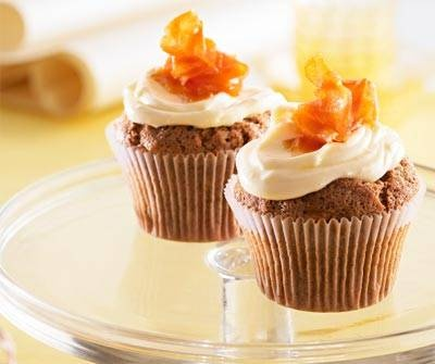 Carrot cupcakes with Cream cheese & orange frosting | Recipe