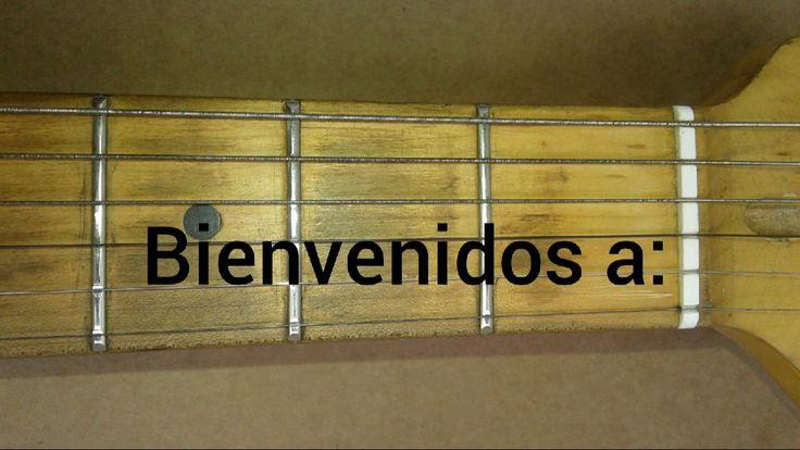 Tutorial como se toca la guitarra escala de DO MAYOR Posición de mano ab...