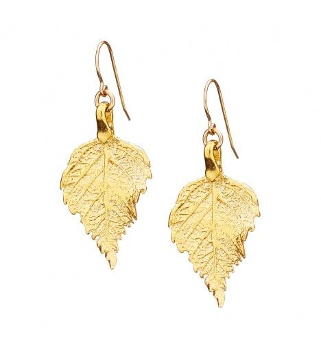 The Sweetest Thing Raspberry Leaf Earrings in Gold