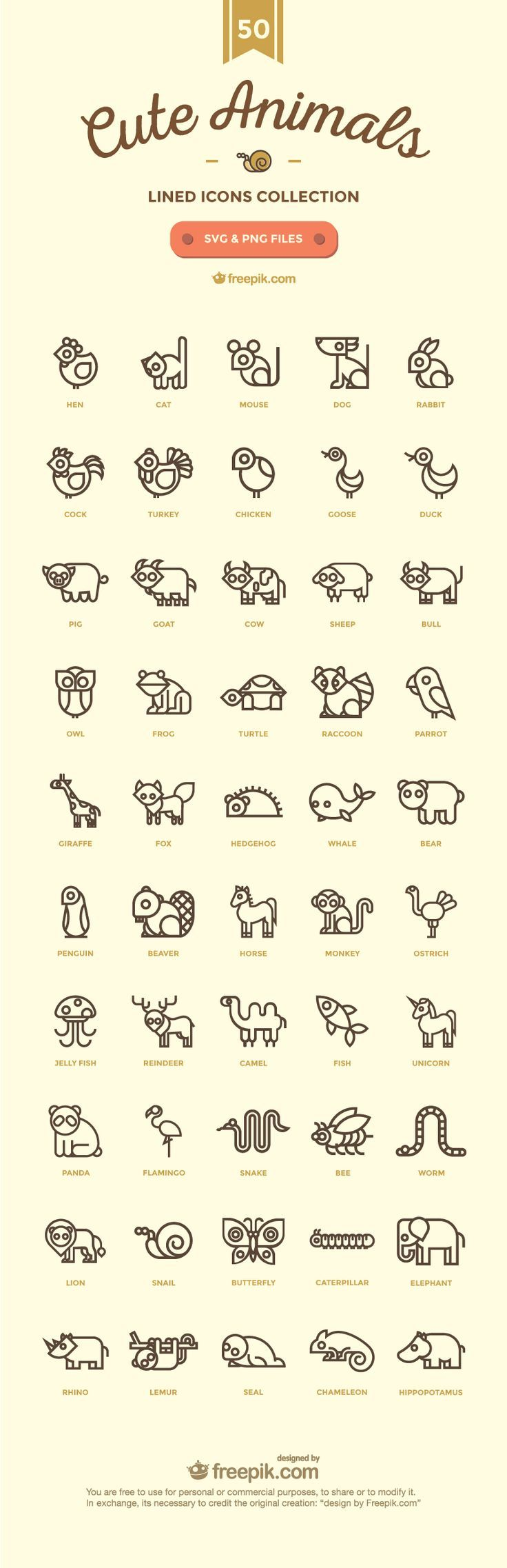 50-Cute Animals-02. Easy conversion to 8 bit cross stitch.: