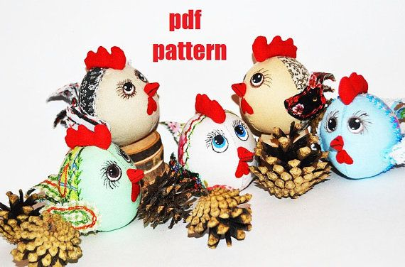 Rooster Toy Pattern PDF  Rooster tutorial 2017 by SimonsCatShop