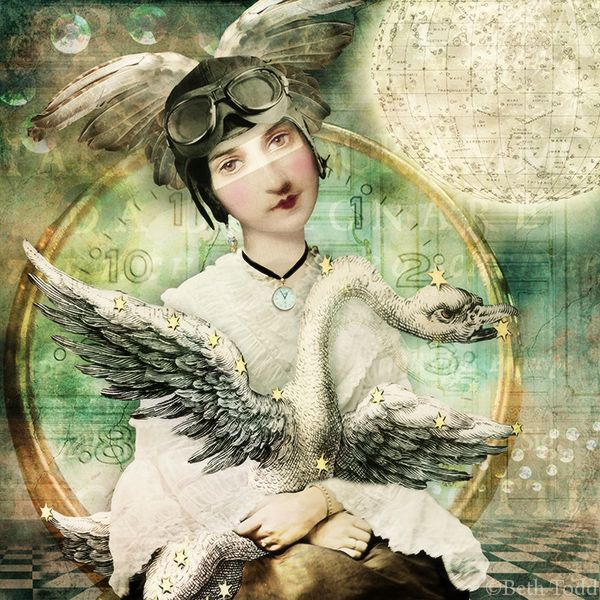 Time Flies © Beth Todd - All Rights Reserved Created with itKuPiLLi's 'Prelude'@ MischiefCircus.com. Digital image kits for your art,  collage, mixed media art and scrapbooking. #photomanipulation #digital #art #scrapbook  #collage #artjournaling #atc