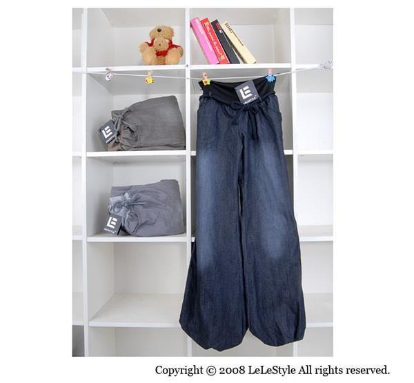 Женские широкие серые джинсы