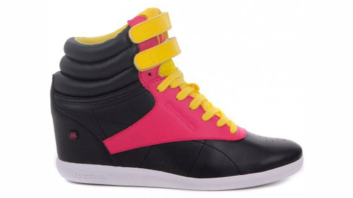 Reebok Freestyle | Znaffle, #Znaffle, #BeckyG, #StealHerStyle, #WhatStarsWear, Spot this item in the original music video, http://znaffle.com/videos/becky-g-play-it-again-537