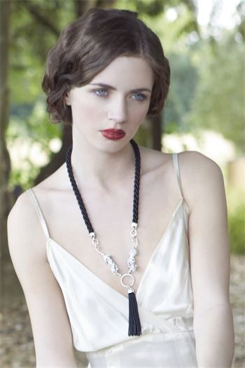 Bill Skinner Snow Leopard Double Statement  Necklace